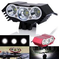 7200Lm 3 x XM-L U2 LED Front Bicycle Lamp Bike Light +Headband+Battery+Charger