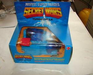 MARVEL Super Heroes  Secret Wars TURBO CYCLE  1984 MIB 80's MATTEL  A21