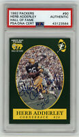 1992 PACKERS Herb Adderley signed card Packer Hall of Fame #90 AUTO PSA/DNA Slab
