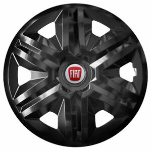 """4x14"""" Wheel trims wheel covers fit Fiat 500 14 inches black"""