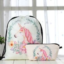 Backpack&Handbag Drawstring Unicorn Backpack Travel School Handbag Shoulder Bag