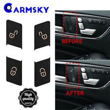 Door Lock Switch Button STICKER for 08-14 Mercedes Benz W204 C230 C250 C300 C350