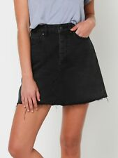 LEE DENIM RIOT MID RISE A-LINE SKIRT ZEPHYR BLACK SZ 8 RRP $110