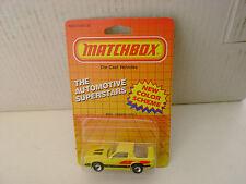 1987 MATCHBOX SUPERFAST MB51 #51 YELLOW CAMARO IROC-Z NEW MOC