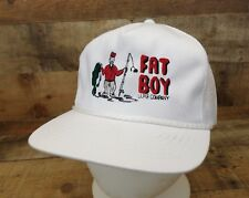 Fat Boy Lure Company Hat Cap Fishing Fish Largemouth Bass Snapback Trucker White