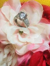 Sterling Silver Cubic Zirconia Ring Size 6/7