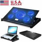11-17 inch Laptop Cooling Pad 4 Fans Gaming Notebook Cooler LED Fan Dual USB US