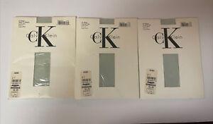 Calvin Klein CK Sheer Pantyhose Size 2 Aqua Mist Color # 806 Lot Of 3