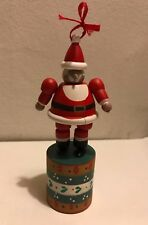 Collapsing Wooden Santa Christmas Ornament Made For Authentic Models