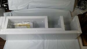 Greenco Set of 3 Floating U Shelves, White -Matte