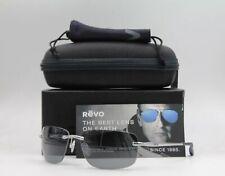 Revo Men's Outlander Rimless Chrome Frame, Grey Lens Sunglasses RE1029-03GY