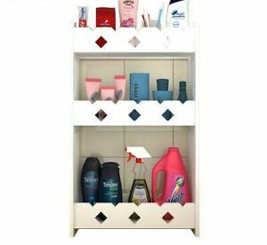 Storage Cabinet Bathroom Shelf Vanity Rack Floor Standing Wall Hanging Organizer