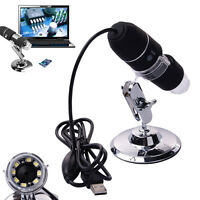 2MP 1000X USB Digital Microscope Endoscope Zoom Camera Magnifier + Stand 8 LEDs