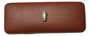 Pen Nib Leather Effect PU Glasses Case Author Writer's Gift 455