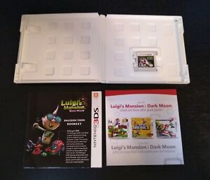 Luigi's Mansion Dark Moon Complete in Box Manual Game 3DS Great Condition