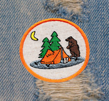 Cute Outdoor Camping Nature Emoji Shirt Patch Badge 7.5cm
