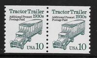 US Scott #2458, Pair 1994 Tractor Trailer 10c FVF MNH