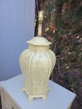 Oriental Table Lamp Palm Beach Hollywood Regency Style Pagoda Chinese Carved