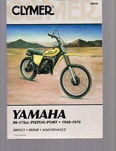 YAMAHA 80-175 PISTON-PORT 1968-1976 SERVICE, REPAIR & MAINTENANCE MANUAL, CLYMER