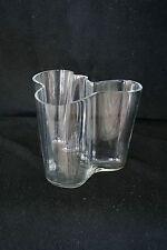 EARLY Iittala Alvar Aalto Savoy Vase 3030 Engraved Signature Seams Wood Mold(?)
