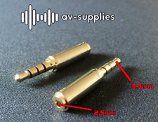 3.5mm Male to 2.5mm Female Stereo Audio Headphone Jack Adapter Converter iPhone