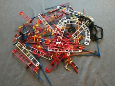K'Nex lot of regular size and miniature pieces building toys roller coaster part