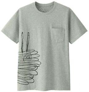 New Uniqlo Kaws x Peanut Ghost T-Shirt Tee SS17 Size L GREY