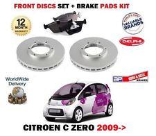 Para Citroen C Zero Electric 2009 -- & Gt Nuevo frente discos de freno de conjunto y almohadillas de Disco Kit