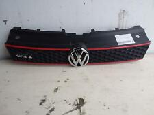 VOLKSWAGEN POLO GRILLE RADIATOR GRILLE, 6R, GTi, BLACK/RED, 05/10-07/14 10 11 12