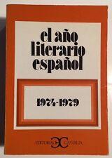El Ano Literario Espanol 1974-1979 (Paperback) Spanish Literature