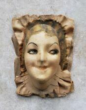 Vintage 1920's Boudoir Wm. Gluckin & Co. Cloth Doll Head Face Mask