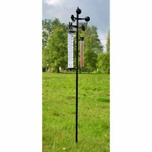 Wetterstation Regenmesser Niederschlag Windrichtung Anzeiger inkl. Thermometer