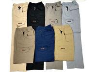 Mens Lightweight Combat Cargo Zip Fly Elasticated Waist Trouser Pant size M  3XL