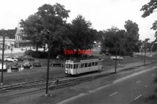 PHOTO  BELGIUM TRAM 1958 BRUXELLES-BRUSSEL SNCV STD TRAM  CAR ON ROUTE SOLO ON R