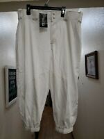 NEW Team Express Solid Knicker Baseball Pant Adult XL White