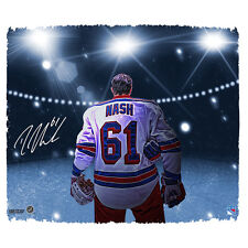 Rick Nash Signed 22x26 Stretched Canvas framed  Pregame NY Rangers Auto Steiner