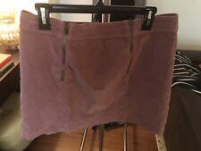 Madewell Pink Velor Mini Skirt, Size 14