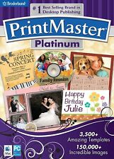 Printmaster Platinum - PC/Mac Software- Brand New- Fast Ship! (SF-0015)