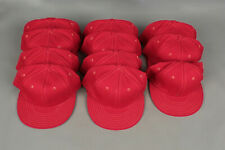 c0678f8a4bd62f Vtg Lot of 11 70s Wilson Scarlet Red Baseball Hats / Caps Size 7 1/