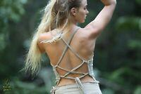 Raw Cotton Tribal Top, Fairy Boho Pixie Festival Gypsy Goa Hippie Summer Backles