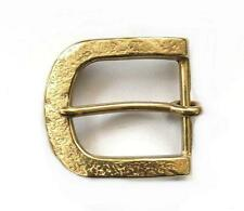 35mm EMBOSSED TEXTURE ROUND BUCKLE Solid Brass Leather Belt Made Japan Quality
