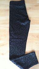 NUOVO senza etichetta F&F leggings neri stampa animale UK 10