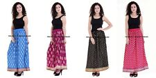 Ladies Indian Party Boho Gypsy Hippie Long Printed Skirt Rayon variety of colors