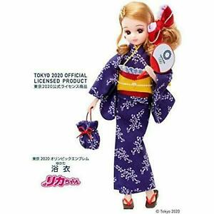 TAKARA TOMY Licca-chan Doll Yukata Tokyo 2020 Olympic Emblem F/S