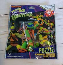 TEENAGE MUTANT NINJA TURTLES PUZZLE ON THE GO! RESEALABLE BAG 48 PC. NEW!!