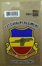 "US ARMY 73RD CAVALRY REGIMENT FORT BRAGG, NC DECAL STICKER CLEAR 3.25"" x 4.5"""