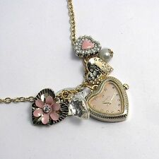 Fabulous Accessorize Ladies Pendant Watch  Charms Hearts Model J1065