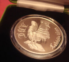 COCK ,ROSTER YEAR 2017 COIN LATVIA 2010 SILVER 1 LATS ABC Book , BOX PROOF