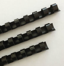 "9/16"" Plastic Binding Combs - ""BLACK"" - Set of 25"
