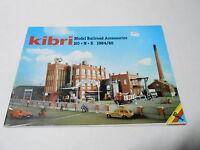 1984 1985  VINTAGE CATALOG #2192 -  KIBRI MODEL TRAIN ACCESSORIES - HO - N - Z